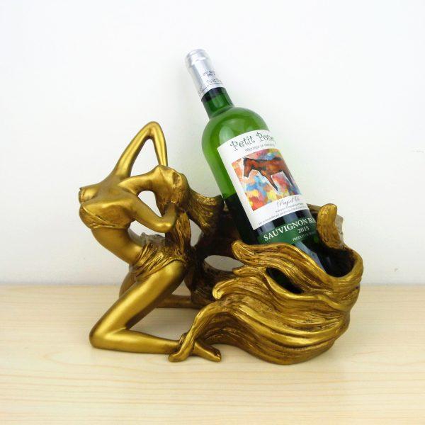 Whimsical Wine Bottle Holder   Living Space
