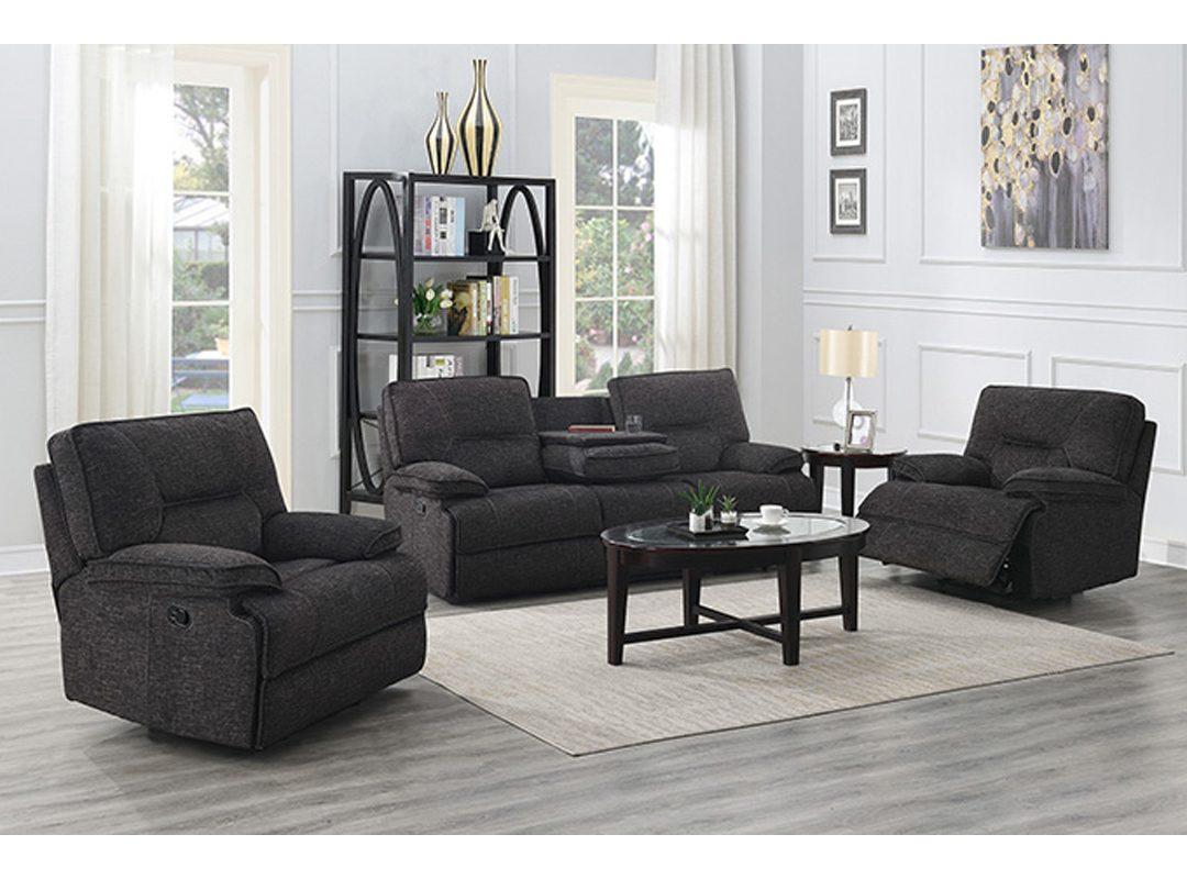 Alliston Fabric Recliner Lounge Suite | (3RR + 1R + 1R)