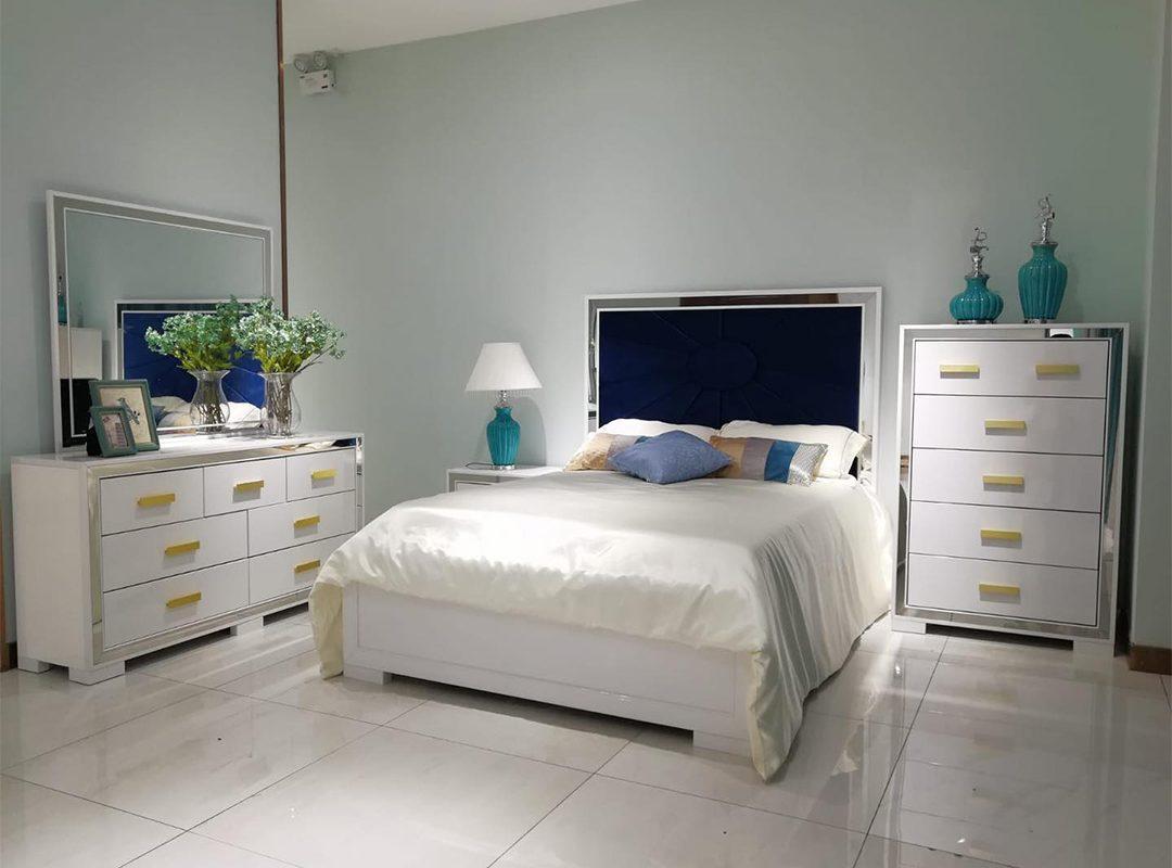 Aqua 6-Piece Bedroom Suite