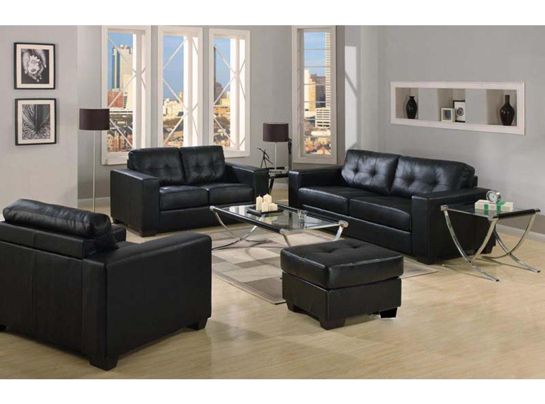 Putney 4-Piece Lounge suite | Black