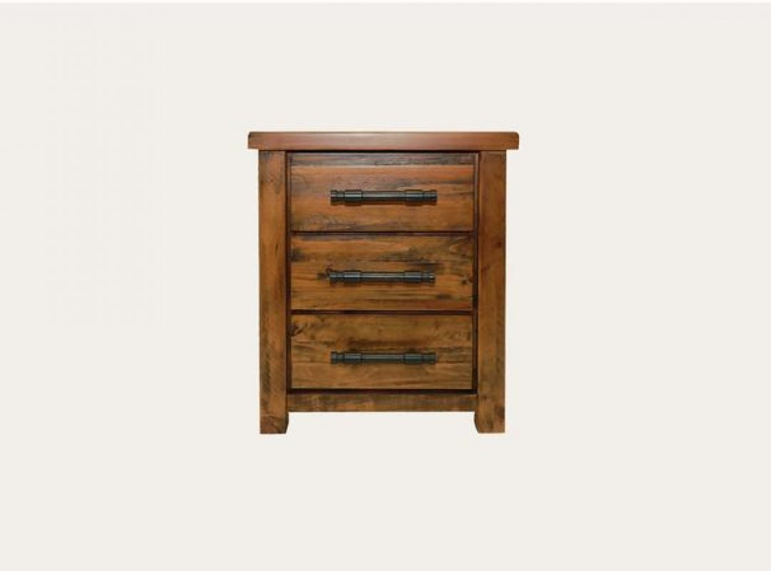 Macclesfield 3 Drawer Bedside Table