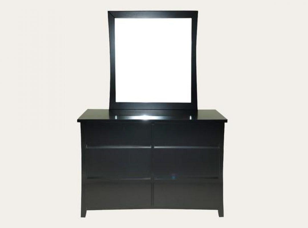 Brinxton 6 Drawer Dresser with Mirror