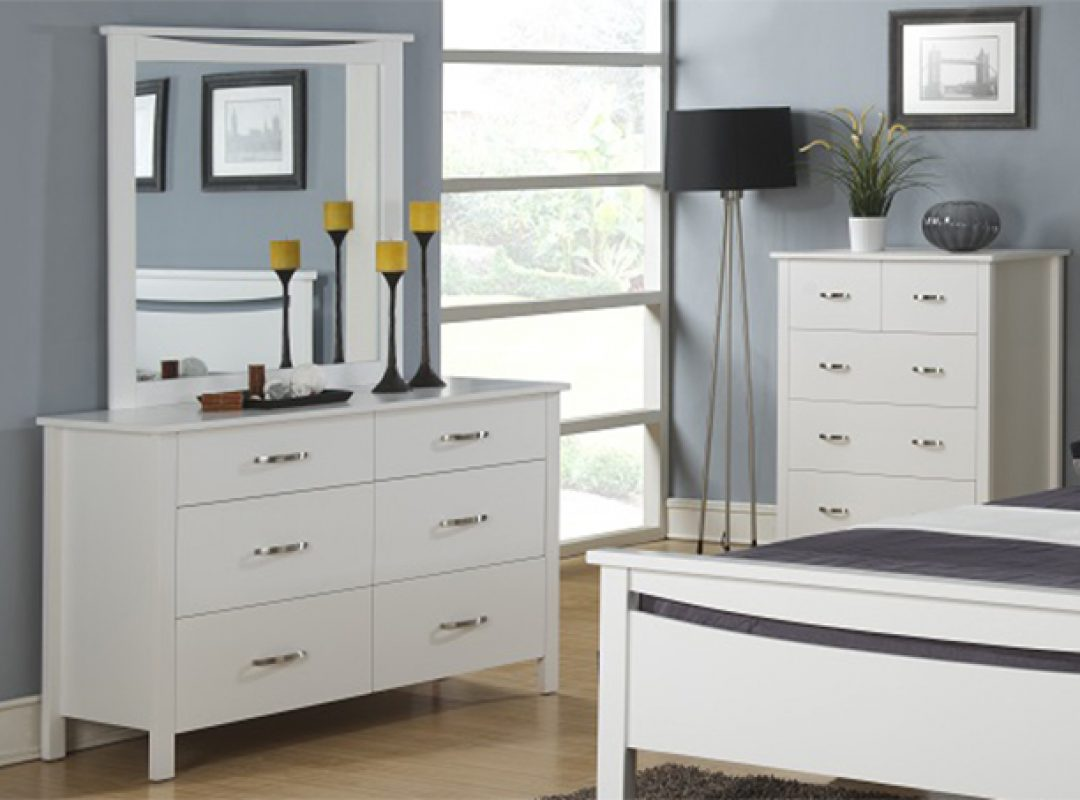 Britain 6 Drawer Dresser with Mirror