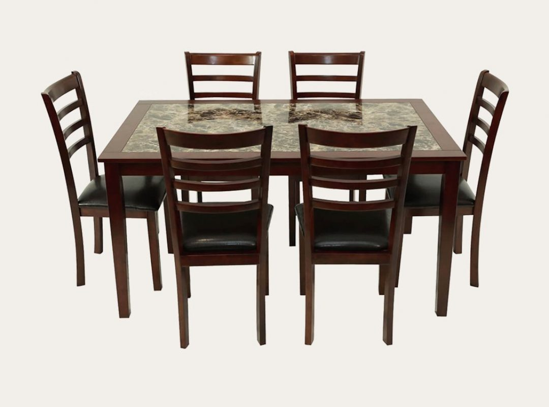 Winsted Dining Suite | Marble Pattern | 7 Piece Set
