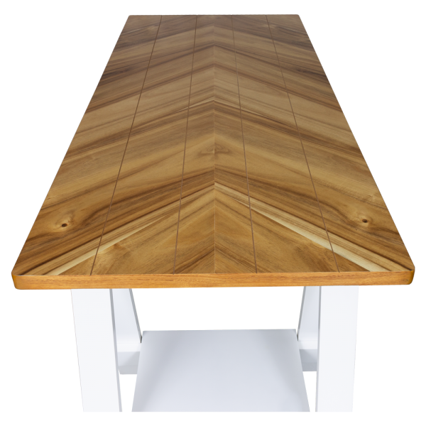 Teddy Desk Two Tone   Living Space