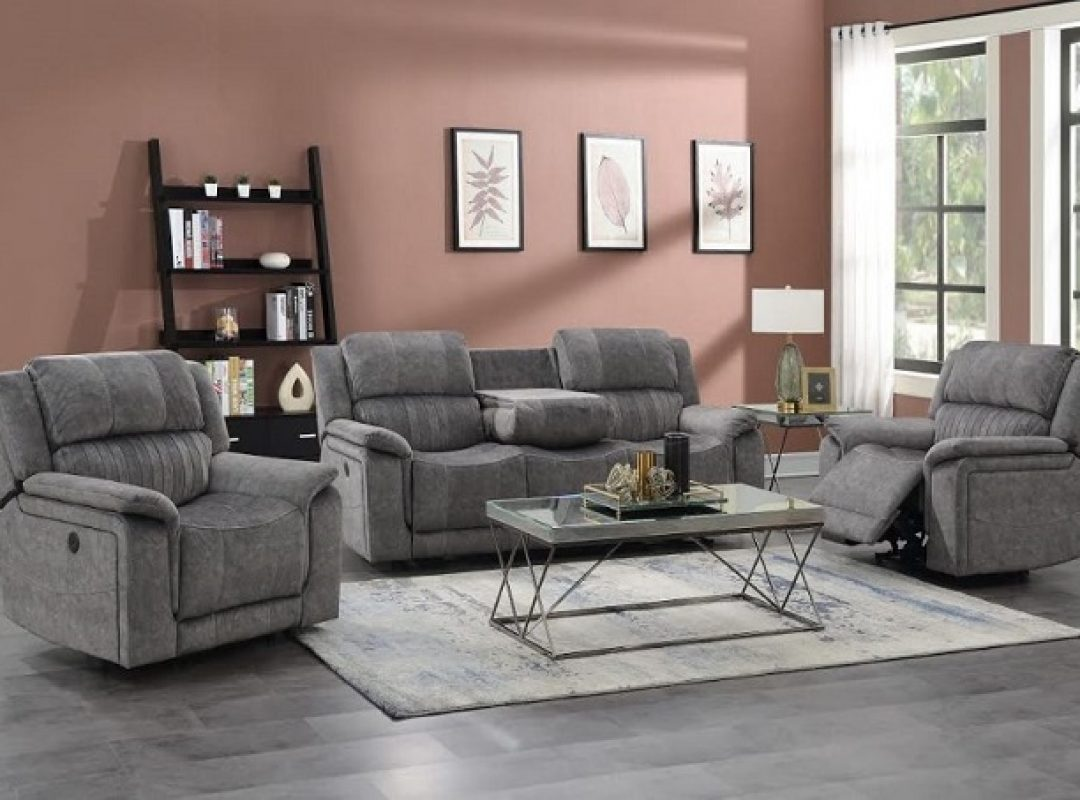 Wylie Fabric Recliner Lounge Suite | (3RR+R+R)