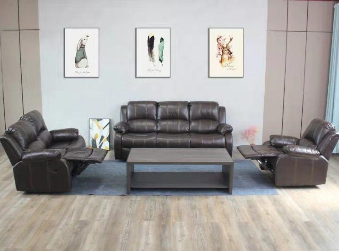 Carmello Recliner Lounge Suite | Brown (3RR+2RR+1R)