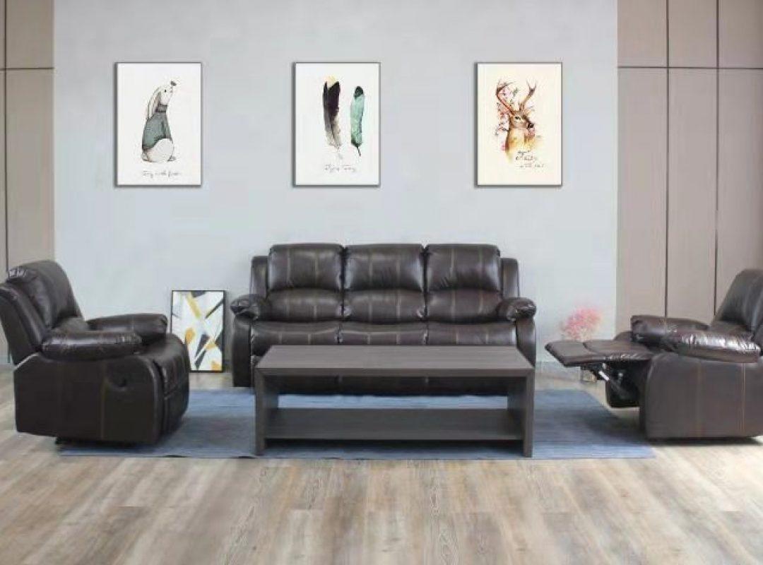 Durham Recliner Lounge Suite | Brown (3RR+1R+1R)