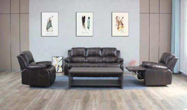 Durham Recliner Lounge Suite | Brown | Kwickshop