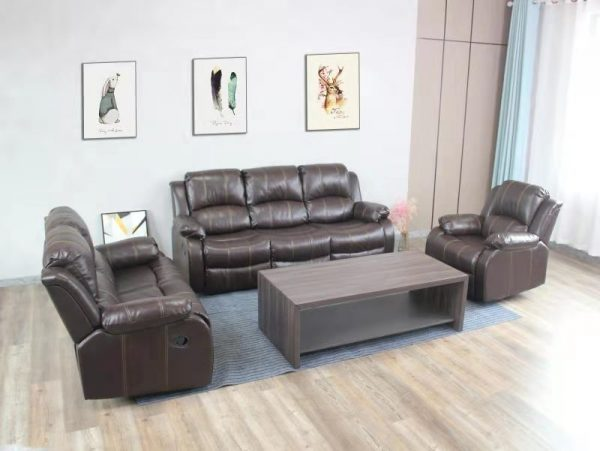 Carmello Recliner Lounge Suite   Brown   Kwickshop